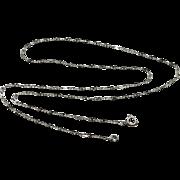 Vintage Art Deco Rhodium Necklace Paper Clip Chain Long