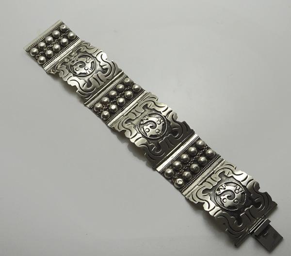 Vintage Mexican Sterling Silver Fish  Bracelet
