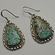 Vintage Navajo American Indian Sterling Silver Earrings