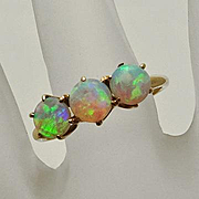 Antique 14K Gold Opal Ring Great Opals