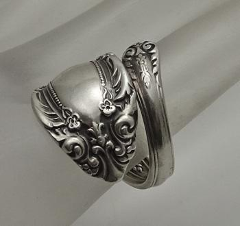 Vintage Towle Fancy King Richard Sterling Silver Spoon Ring