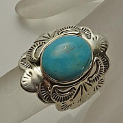 Carol Felley Sterling Silver Southwest Turquoise Ring