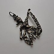 Rare Vintage Danecraft Zodiac Virgo Sterling Silver Figural Charm Pendant