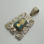 Sterling Silver Peruvian Inca Pendant