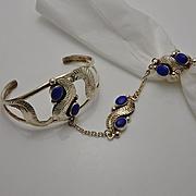 Mexican Alpaca Slave Bracelet Ring Set