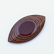 Vintage Psychedelic Laminated Bakelite Pin