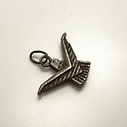 Older Vintage  Sterling Silver Eagle Pendant Charm