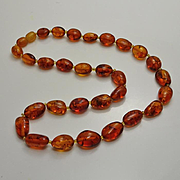 Vintage Amber Bead Necklace