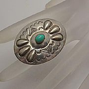 Native American Navajo Sterling Silver Turquoise Pin