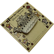 Noah's Ark Mexican Sterling Silver Save the Children Pin Original Card