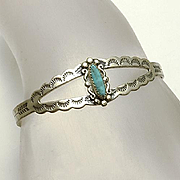 Sterling Silver Child's Bracelet Turquoise Bell Trading Company