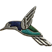 Carolyn Pollack Sterling  Turquoise Lapis Bird Pin
