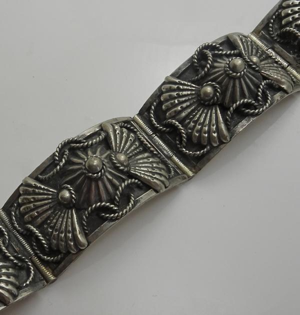 Ornate Vintage Italian Bracelet 800 Silver