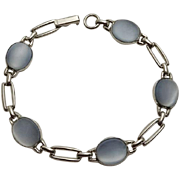 Danecraft Sterling Silver Blue Glass Moonstone Bracelet