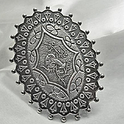 Etruscan Vintage Sterling Silver Mushroom Pin
