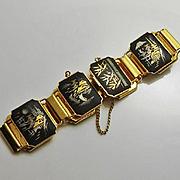 Vintage Japanese Amita Damascene Bracelet