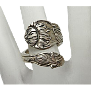 Vintage Sterling Silver Spoon Ring Very Fancy Gorham