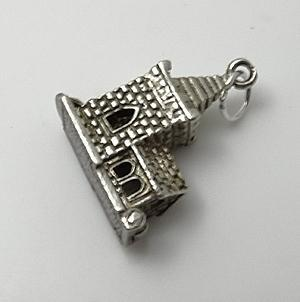 Vintage Sterling Silver Charm Moving Mechanical  Church Bride Groom  Wedding