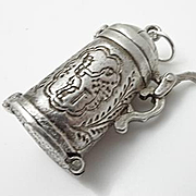 Sterling Silver Movable Mechanical Nuvo Beer Mug Stein Charm