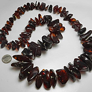 Large Super Chunky Genuine Dark Amber Necklace