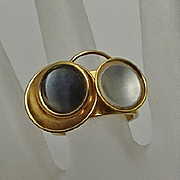 Christophe Poly Modernist Abstract  Artisan Ring