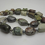 Jay King Chunky Sterling Silver Marble Agate Necklace