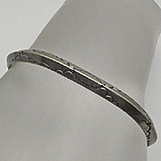 Vintage Native American Indian Sterling Silver Cuff Bracelet Earlier Nicely Stamped