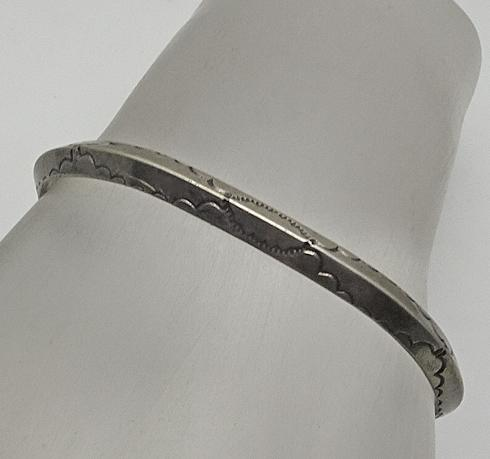 Vintage Native American Indian Sterling Silver Cuff Bracelet Earlier Nicely Stamped