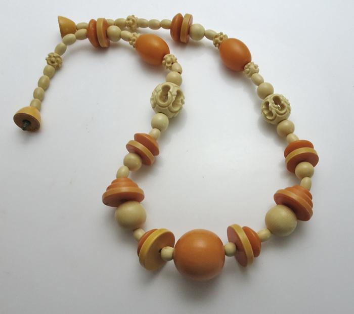 Vintage 1930s Art Deco Celluloid Geometric Necklace