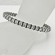 Sterling Silver Crystal Bangle Bracelet Glamorous
