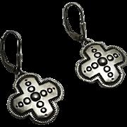 Sterling Silver Indian Cross Earrings Nice Stamped