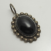 Sterling Silver Mexican Black Onyx Pendant