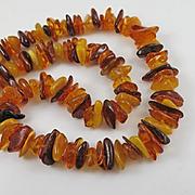 Genuine Tri Color Amber Necklace