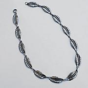 Vintage Sterling Silver JewelArt Leaf Necklace