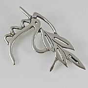 Sterling Silver M Eisemann Abstract Peace Dove Pin