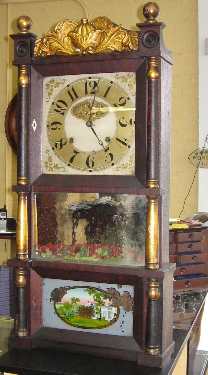 C & L. C. Ives  Empire Eight Day Weight Clock