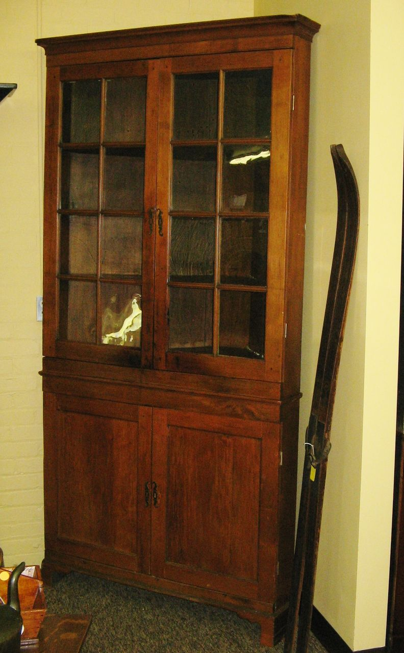 - Pennsylvania Cherry Corner Cupboard : Cathys Clocks Ruby Lane