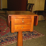 Antique Southern Pine Drop Leaf Table