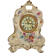 Ansonia Royal Bonn Porcelain Case China Clock