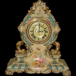 Ansonia Royal Bonn Porcelain Clock La Cerda