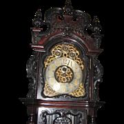 PRICE  REDUCED Elliott Nine Tube Carved Mahogany Grandfather Tallcase Clock