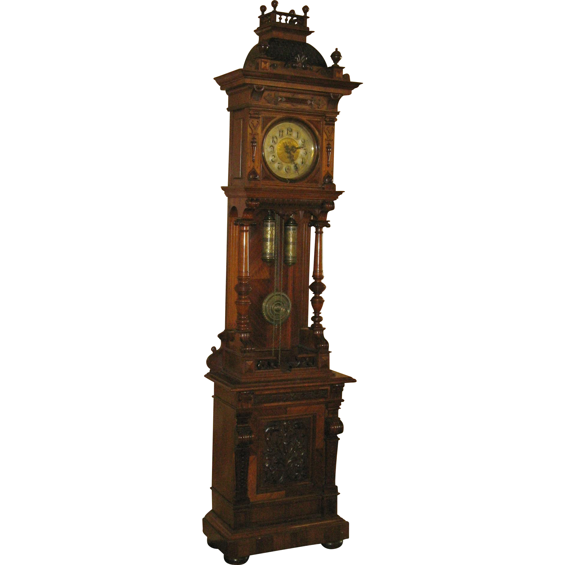 German Openwell Grandfather Clock
