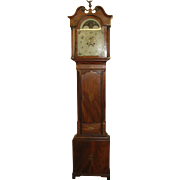 Fantastic 19th Century Mahogany English Grandfather Clocks