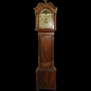 Fantastic 19th Century Mahogany English Grandfather Clocks