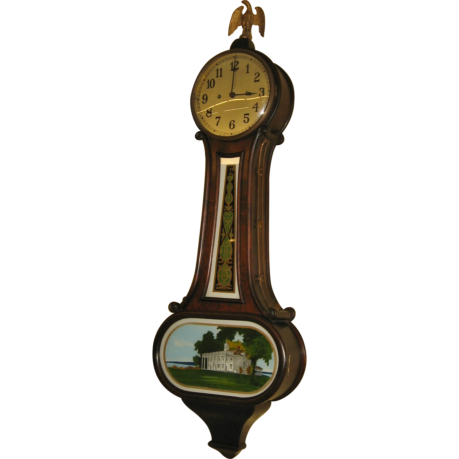 Large New Haven 30 Day Banjo Clock  Wilson Model
