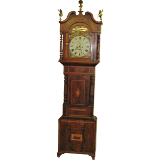 Fantastic Carved English or Scottish Tall case Grandfather Clocks