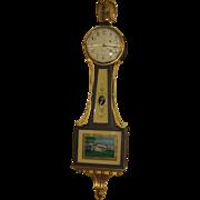Waltham Weight Driven Willard Style Banjo Clock