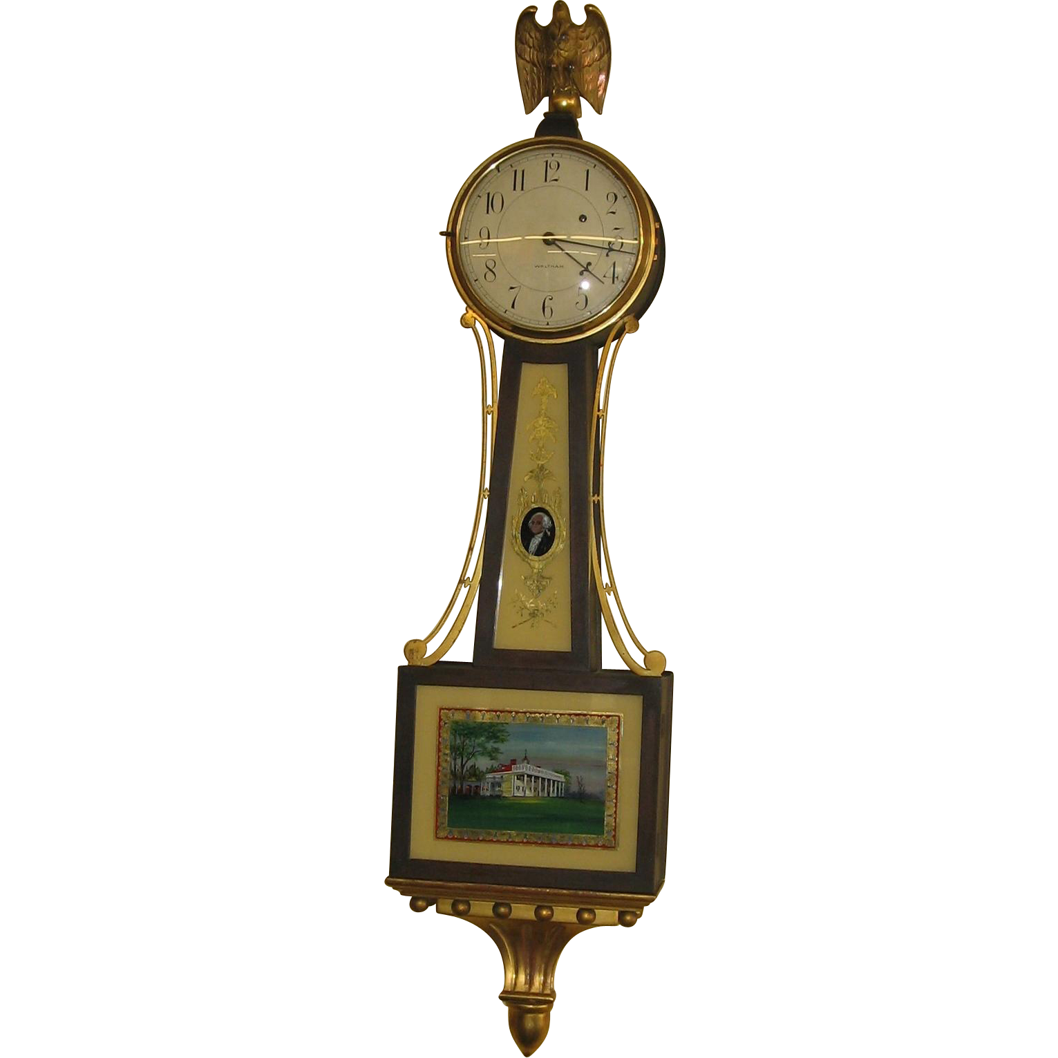 Waltham Weight Driven Willard Style Banjo Clock