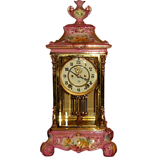 Ansonia Royal Bonn Crystal Regulator #1 Clock