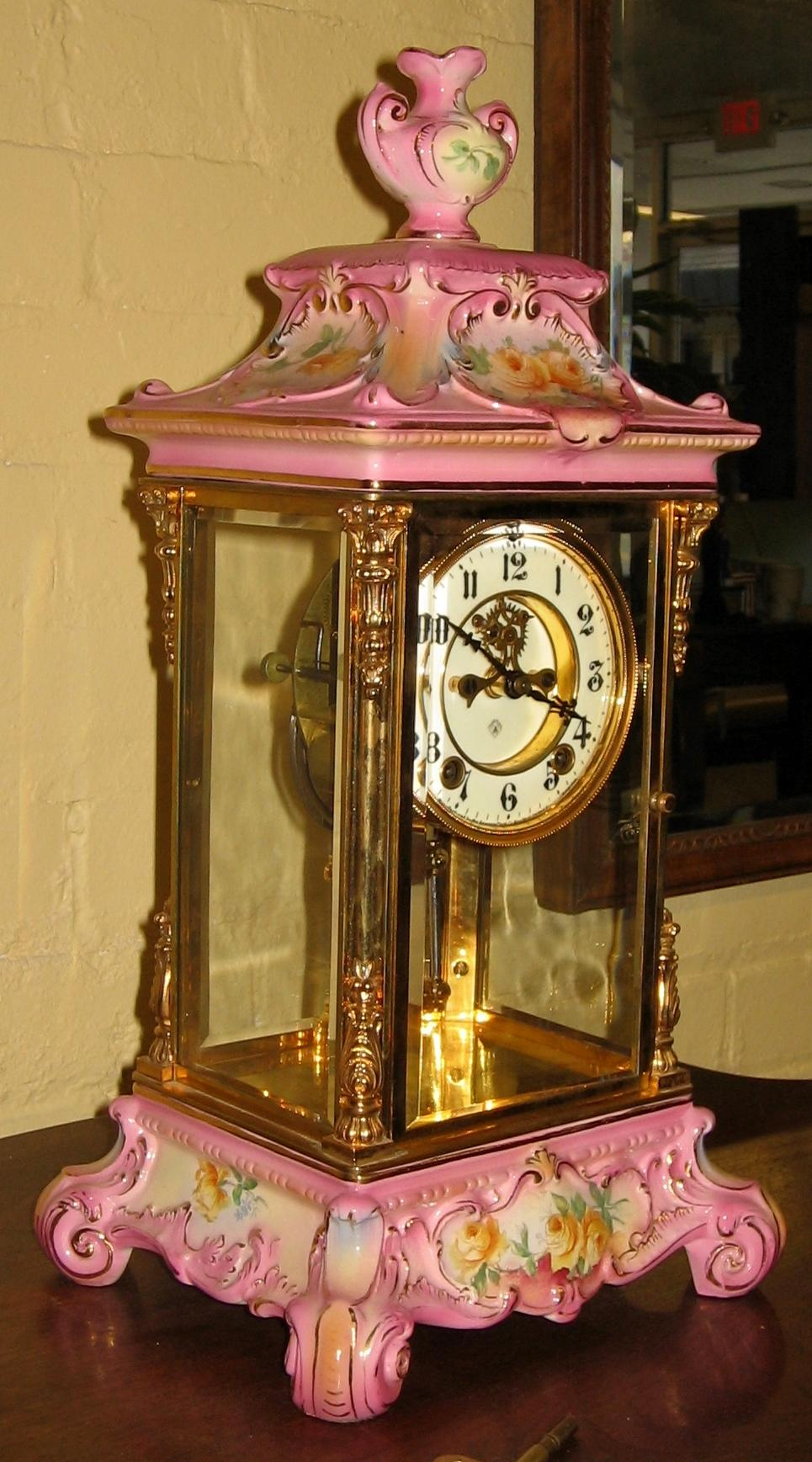 ansonia royal bonn crystal regulator 1 clock from. Black Bedroom Furniture Sets. Home Design Ideas